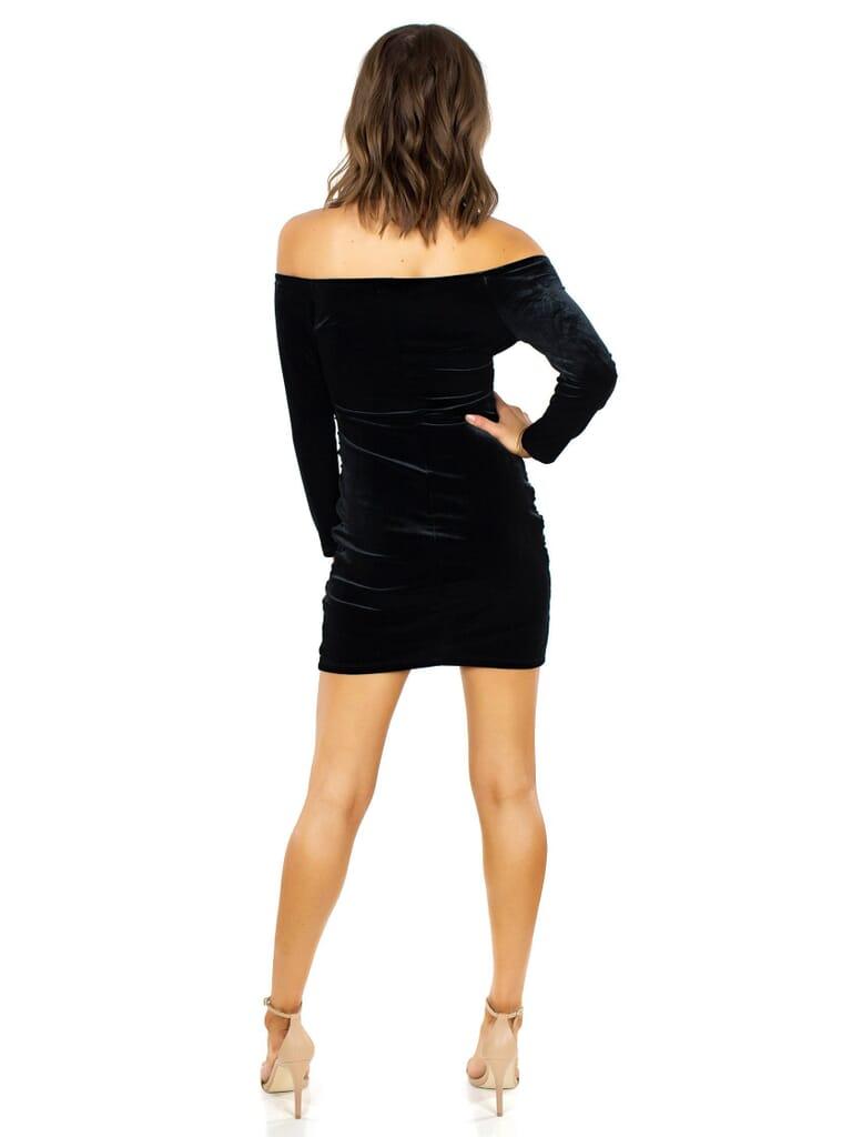 WYLDR Velvet Paint  Town Dress in Black