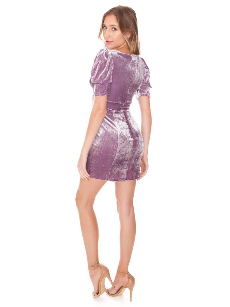 For Love & Lemons Viva Mini Dress in Lilac