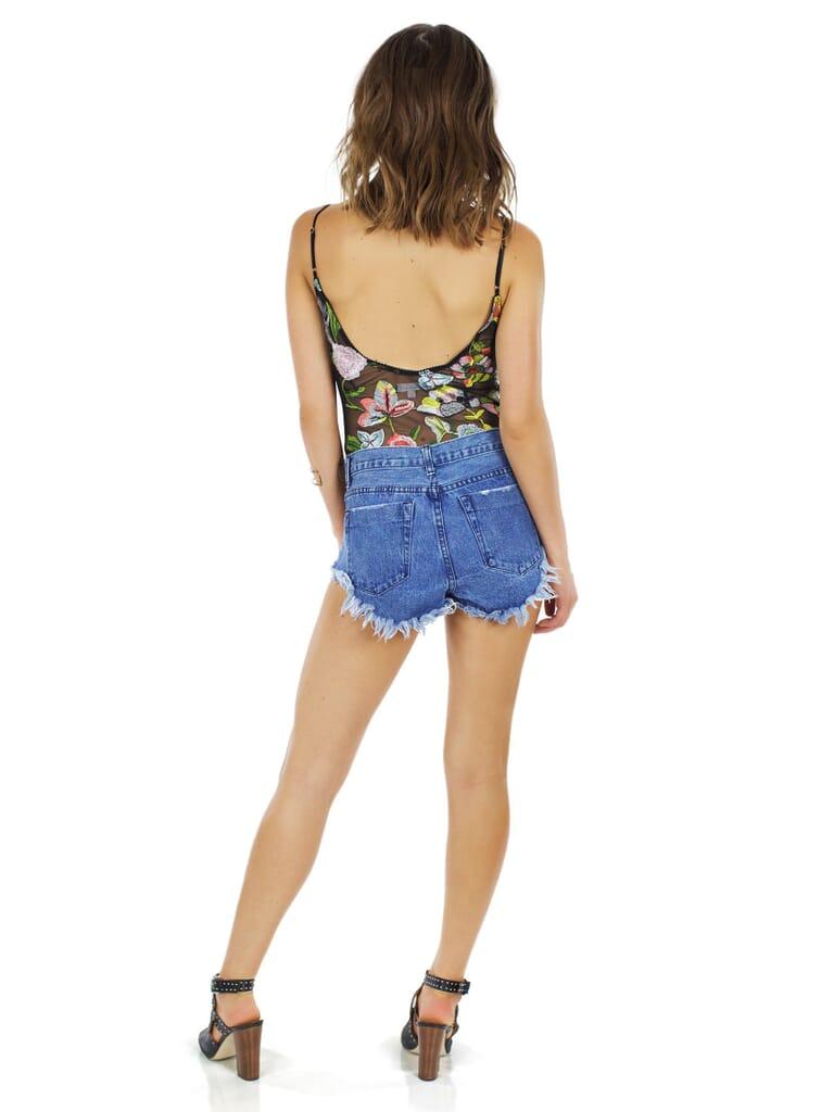 FashionPass Wanderlust Bodysuit in Black/Floral