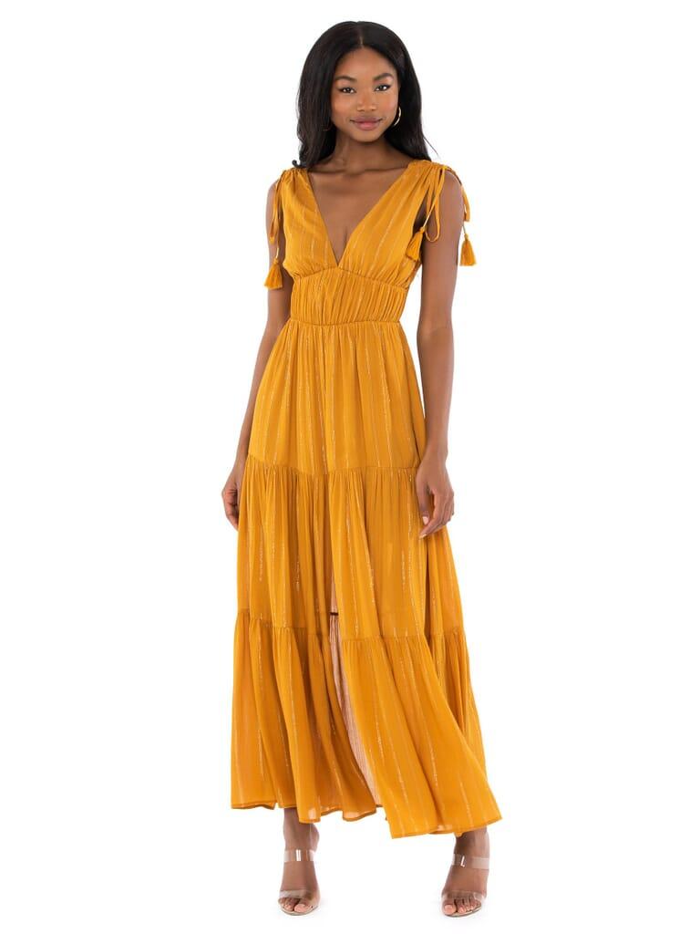 MINKPINK Wayward Maxi Dress in Toffee