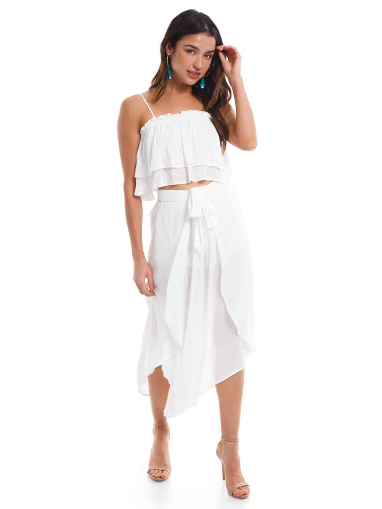 Cotton Candy White Two Piece Set in White