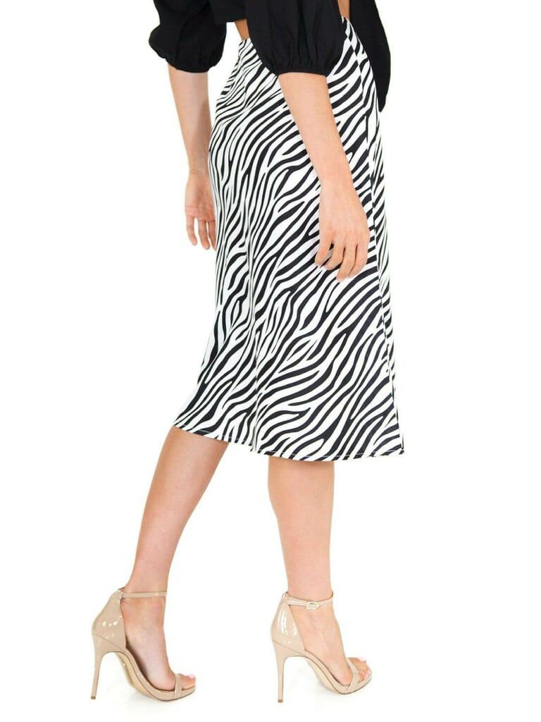 FashionPass Wild Side Skirt in Zebra