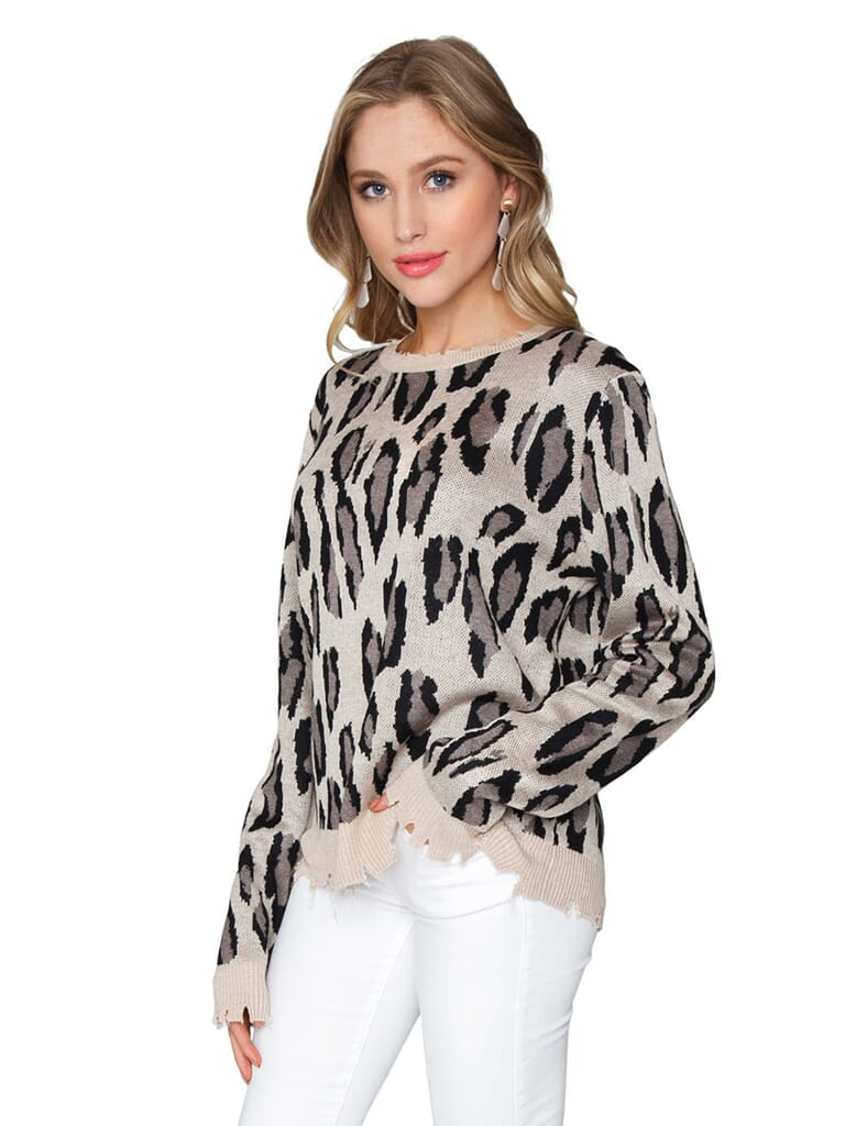 FashionPass Wild Thoughts Sweater in Leopard