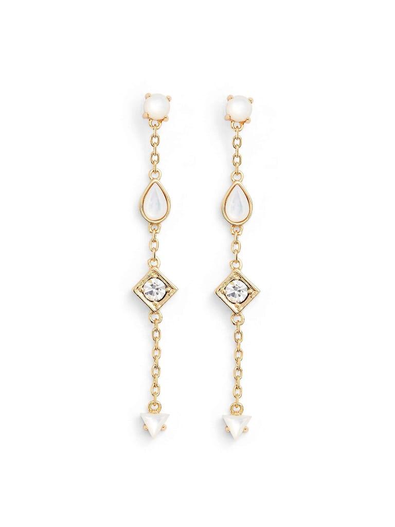 Jules Smith Willow Drop Earrings in Gold
