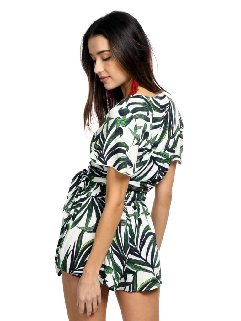 Show Me Your Mumu Wilson Tie Top in Peruvian Palm Breeze
