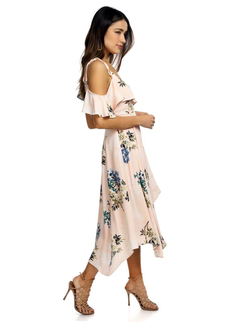 ASTR Yessenia Dress in Blush Multi Floral