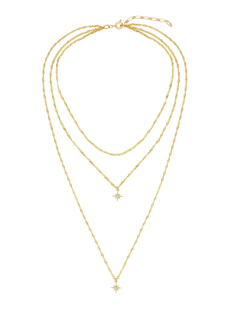 Five and Two Yolanda Necklace in Gold