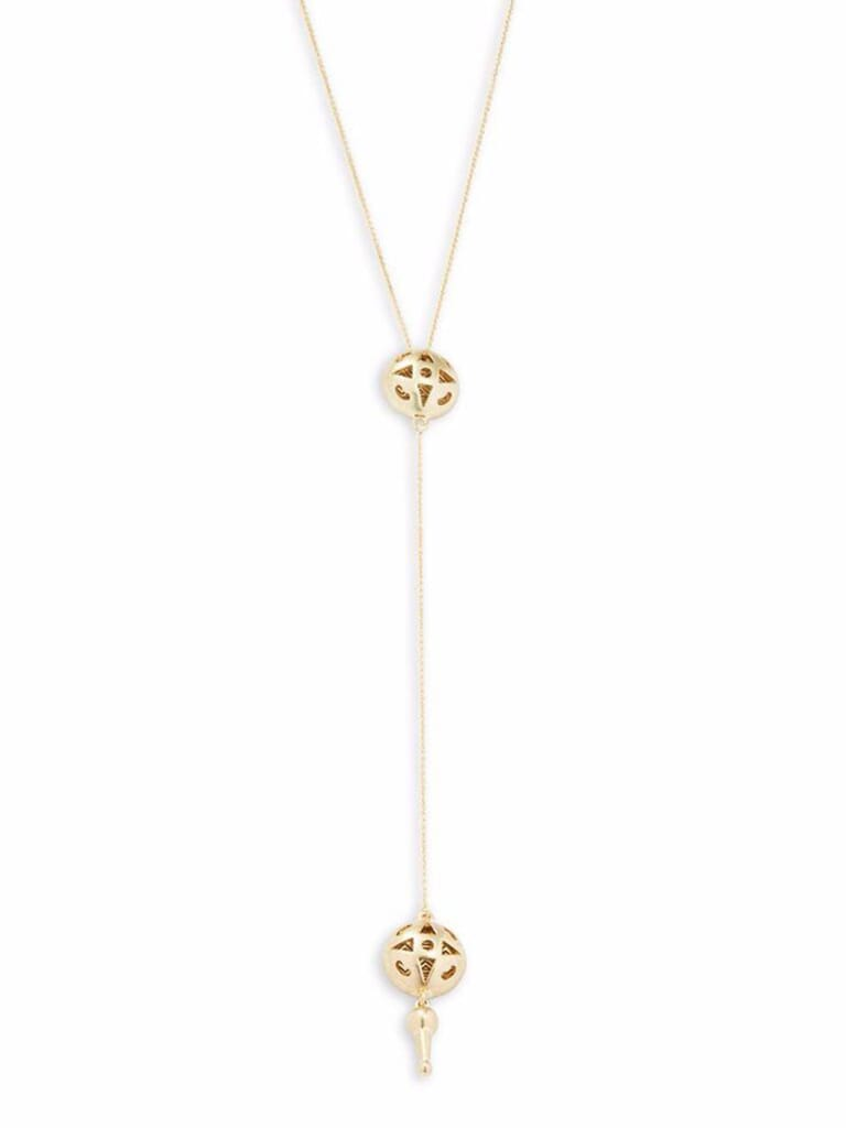 House of Harlow 1960 Y Pendant Necklace in Gold